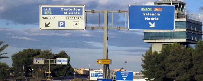 Salidas y llegadas de vuelos del Aeropuerto de Valencia