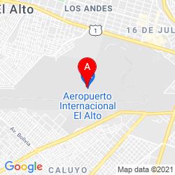 Mapa Aeropuerto Internacional El Alto