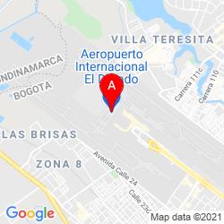 Mapa Aeropuerto Internacional El Dorado
