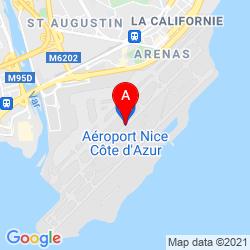 Mapa Aeropuerto Internacional Niza Costa Azul