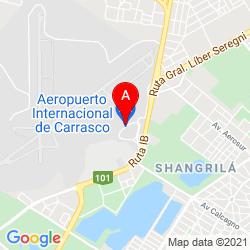 Mapa Aeropuerto Internacional de Carrasco