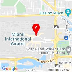 Mapa Aeropuerto Internacional de Miami