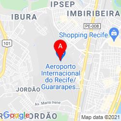 Mapa Aeropuerto Internacional de Recife-Guararapes
