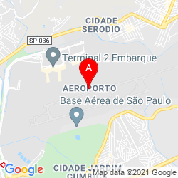 Mapa Aeropuerto Internacional de São Paulo-Guarulhos