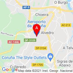 Mapa Aeropuerto de A Coruña