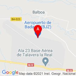 Mapa Aeropuerto de Badajoz