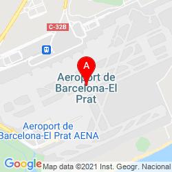 Mapa Aeropuerto de Barcelona-El Prat