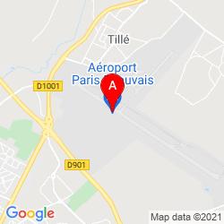 Mapa Aeropuerto de Beauvais Tillé