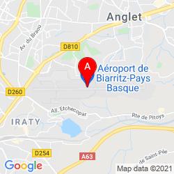 Mapa Aeropuerto de Biarritz-Anglet-Bayonne