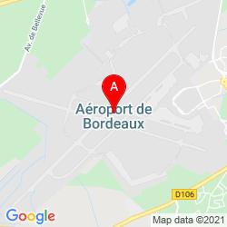 Mapa Aeropuerto de Burdeos