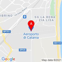 Mapa Aeropuerto de Catania - Fontanarossa