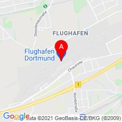 Mapa Aeropuerto de Dortmund
