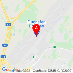 Mapa Aeropuerto de Dresde