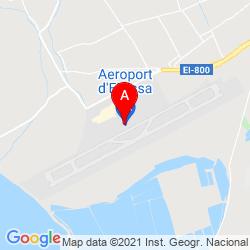 Mapa Aeropuerto de Ibiza