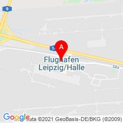 Mapa Aeropuerto de Leipzig/Halle