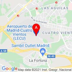 Mapa Aeropuerto de Madrid - Cuatro Vientos