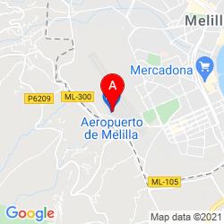 Mapa Aeropuerto de Melilla
