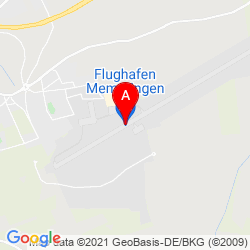 Mapa Aeropuerto de Memmingen
