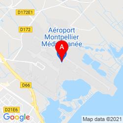 Mapa Aeropuerto de Montpellier-Méditerranée