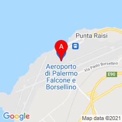 Mapa Aeropuerto de Palermo - Punta Raisi