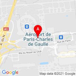 Mapa Aeropuerto de París-Charles de Gaulle