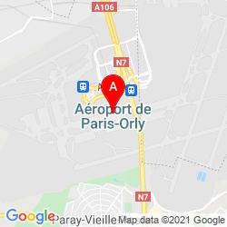 Mapa Aeropuerto de París-Orly