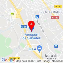 Mapa Aeropuerto de Sabadell