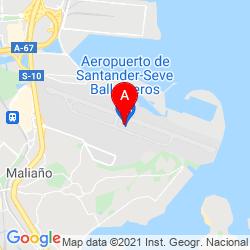 Mapa Aeropuerto de Santander