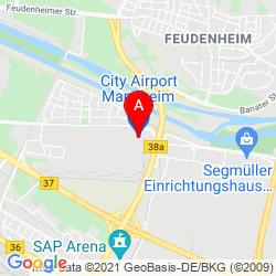 Mapa Aeropuerto de la Ciudad de Mannheim