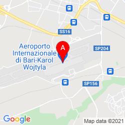 Mapa Bari International Airport-Karol Wojtyla