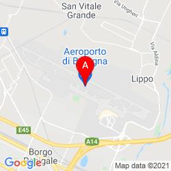 Mapa Bologna Guglielmo Marconi Airport