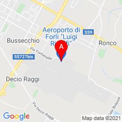 Mapa Forlì Airport