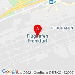 Mapa Frankfurt Airport