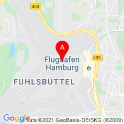 Mapa Hamburg Airport