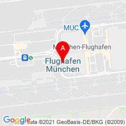 Mapa Munich International Airport
