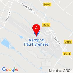 Mapa Pau Pyrénées Airport