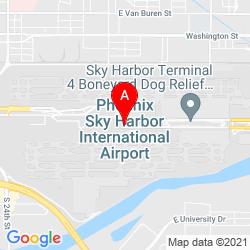 Mapa Phoenix Sky Harbor International Airport
