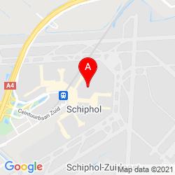 Mapa Schiphol Amsterdam Airport