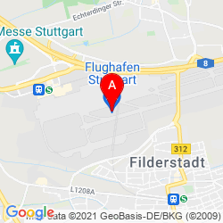 Mapa Stuttgart Airport