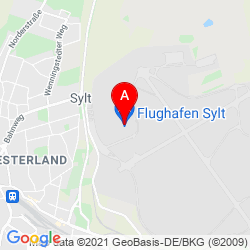 Mapa Sylt Airport