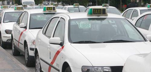 Taxis en el aeropuerto de Jerez