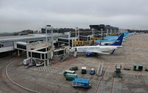 Plataforma del Aeroparque Jorge Newbery.