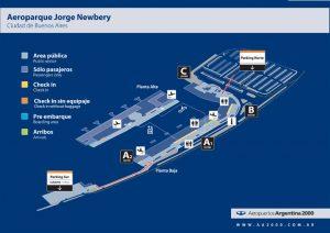 Plano de Aerparque Jorge Newbery