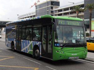 Línea PR1 con ruta al Aeropuerto de Barcelona.