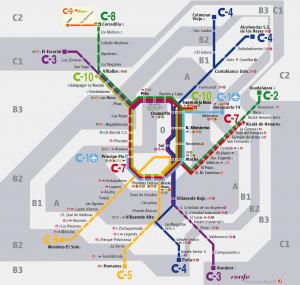 La línea C1 tiene una estación en la terminal T4.