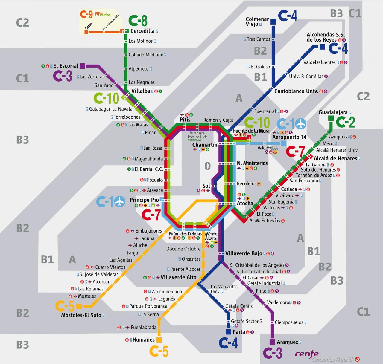 Trenes aeropuerto de madrid barajas aeropuertos net for Como llegar a getafe