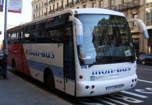 Autobuses Mon-Bus de Barcelona.