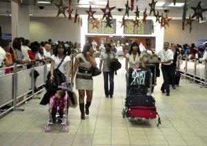 Llegadas al Aeropuerto Las Américas.