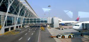 Terminal de Llegadas del Aeropueto de Shanghái Pudong