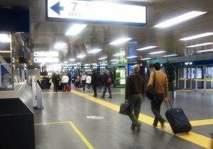 hall principal del Aeropuerto de Milán-Linate